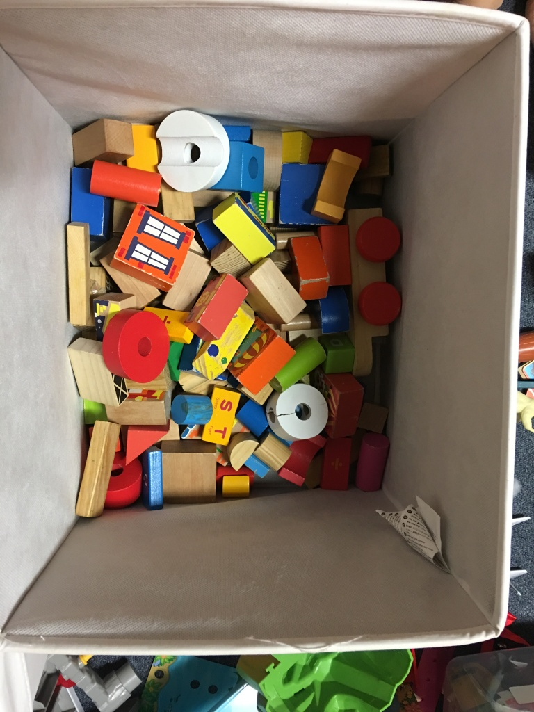 organizing toy boxes