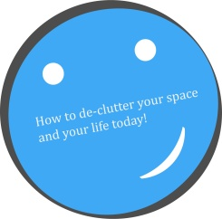 how to declutter your space happy face